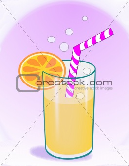 Soft Drink with a Straw