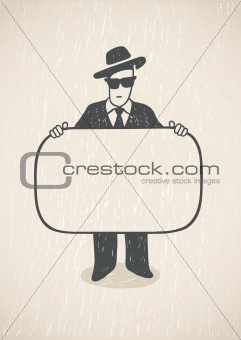 Man And Business Card