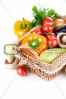 fresh vegetables with leaves
