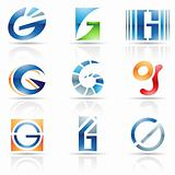 Glossy Icons for letter G