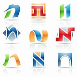 Glossy Icons for letter N