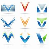 Glossy Icons for letter V