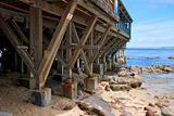 Wooden Pier and Coast in Monterey California