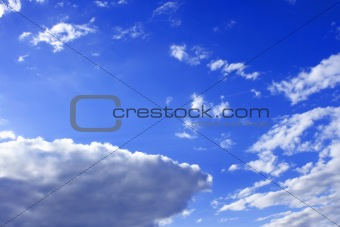 White clouds against blue sky