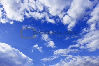Clouds around blue sky