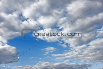 Cloudscape with white clouds