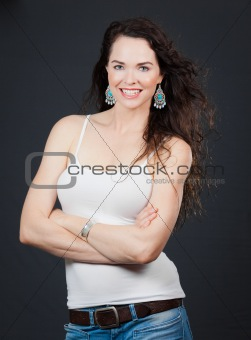 Beautiful young confident woman