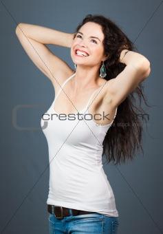 Young happy beautiful woman