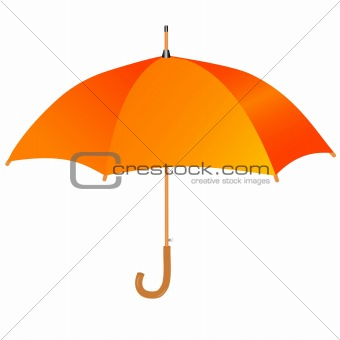 Orange umbrella icon
