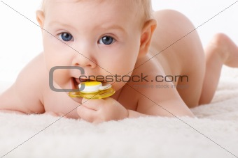 child with dummy