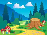 Cartoon forest landscape 7