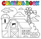 Coloring book farm theme 1