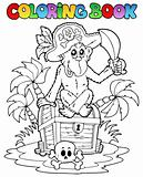 Coloring book with pirate theme 3