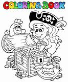 Coloring book with pirate theme 5