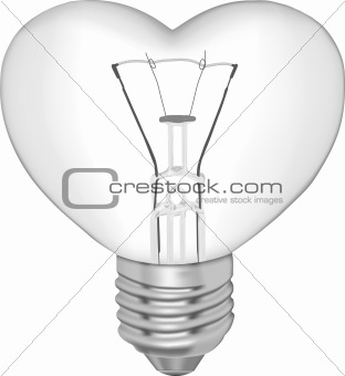 Bulb in the form of heart