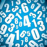 Number seamless background