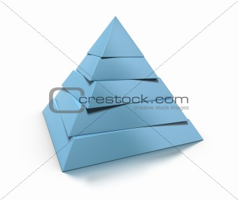 3d pyramid, five levels