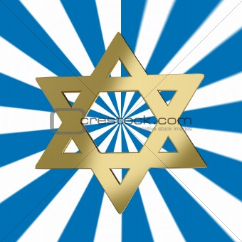 Star of David with a starburst background
