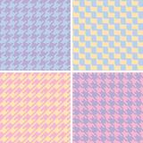 Pixel Houndstooth Patterns in Pastels