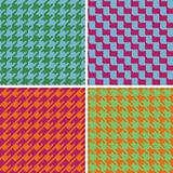 Pixel Houndstooth Patterns