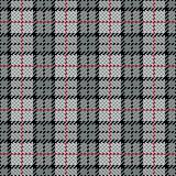 Pixel Plaid_Grey-Red Stripe