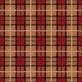 Pixel Plaid_Red-Gold