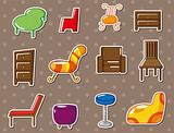 cartoon furniture stickers