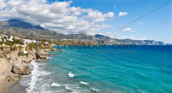 Nerja Beach and City
