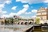 Lavka and Hradcany with Charles bridge, Prague, Czech Republic