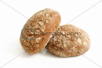 Round rye buns