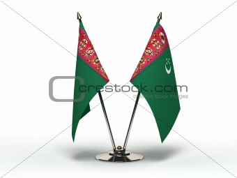 Miniature Flag of Turkmenistan (Isolated)