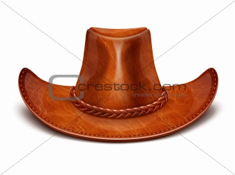 cowboy's leather hat stetson