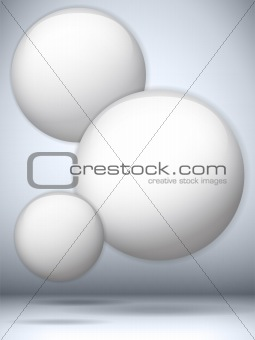 Futuristic Flying Bubbles Circle Background
