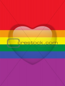 Heart Glass Buttons Gay Flag