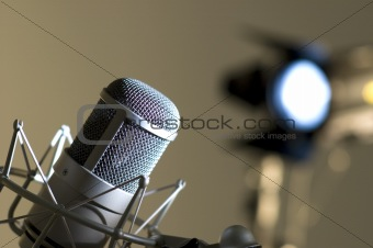 Microphone in studio.