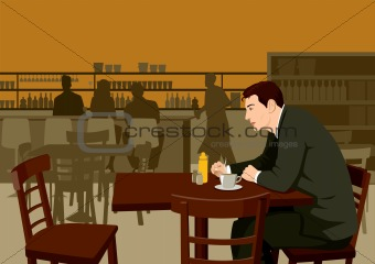 Man In The Cafe