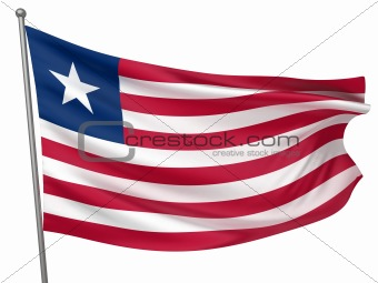 Liberia National Flag  - All Countries Collection - Isolated Image