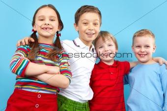 Four having fun