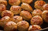 Close-up of meatballs