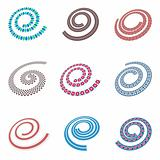 Design elements in spiral shape.