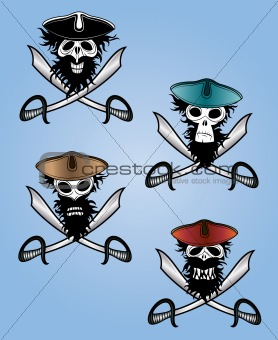 scary pirate thief vector design