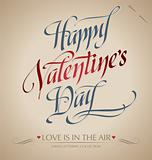 valentine's hand lettering (vector)