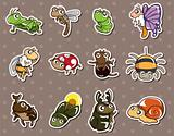 cartoon bug stickers