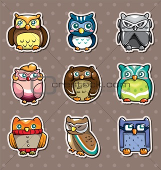 cartoon owl stickers