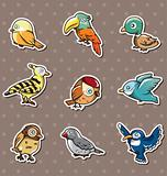 cartoon bird stickers