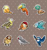 cartoon bird stickers