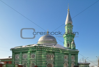 Perm, Russia. Cathedral mosque in the winter