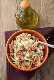risotto with  mushrooms and bacon