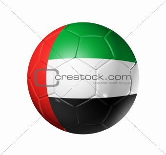 Soccer football ball with United Arab Emirates flag