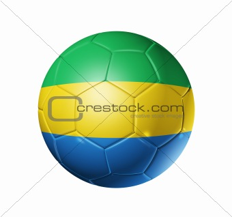 Soccer football ball with Gabon flag